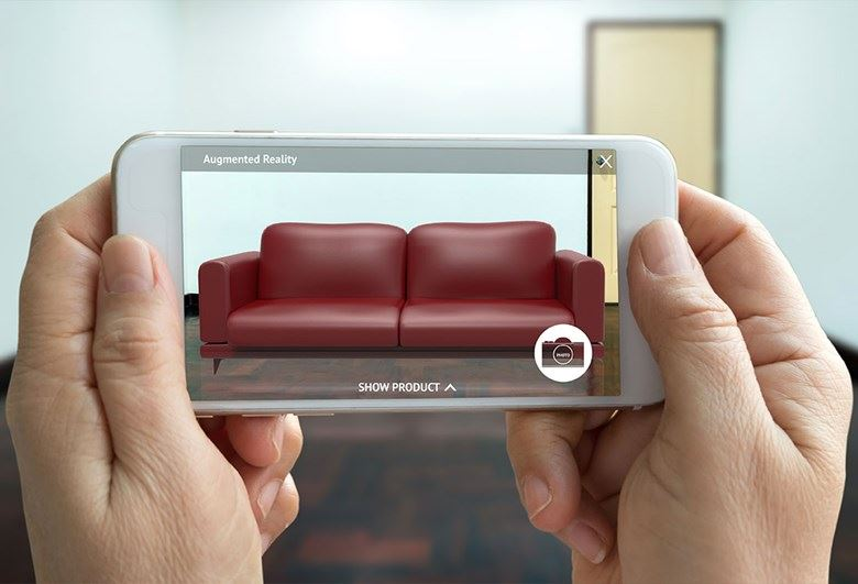Augmented Reality - Sofa in House