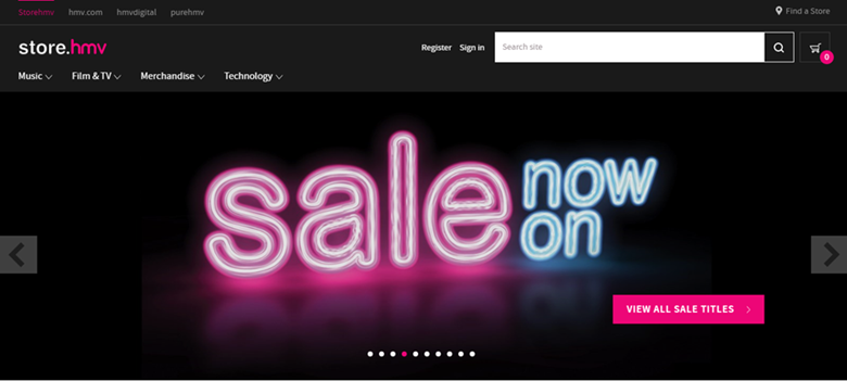 HMV website offer