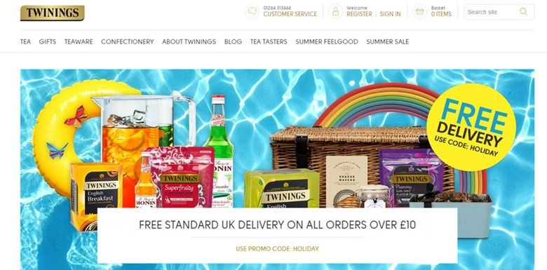 Twinings website