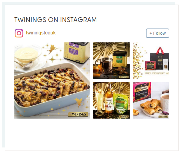 Twinings Instagram account