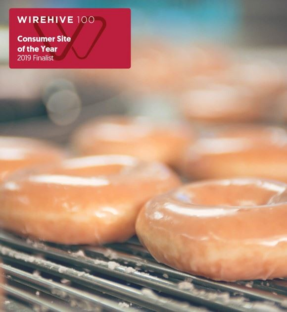 Doughnuts with Wirehive finalist logo