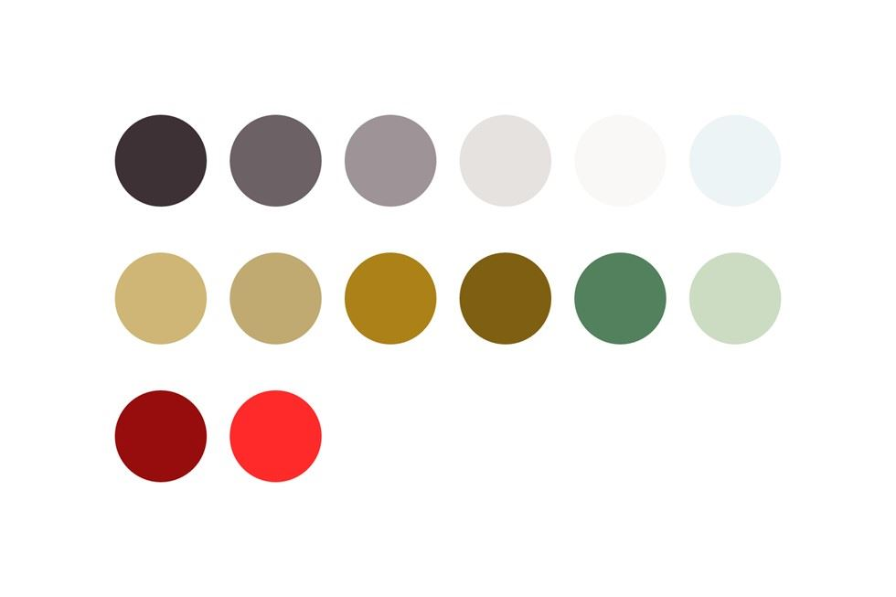 Twinings digital colour palette