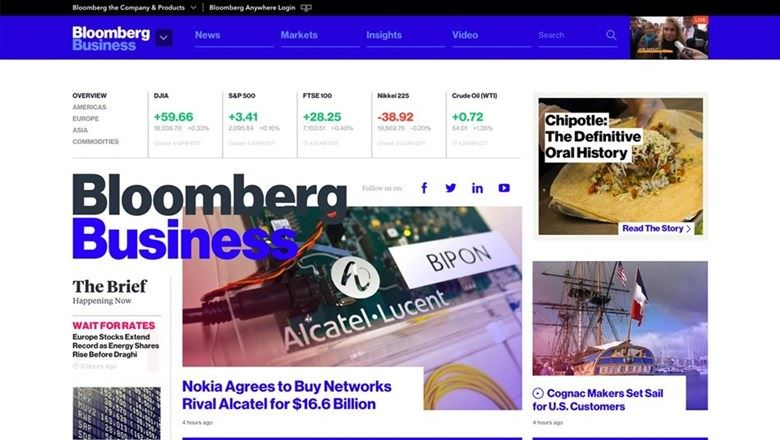 Bloomberg website