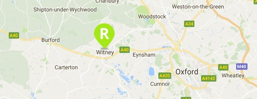 Map showing Ridgeway's Witney office
