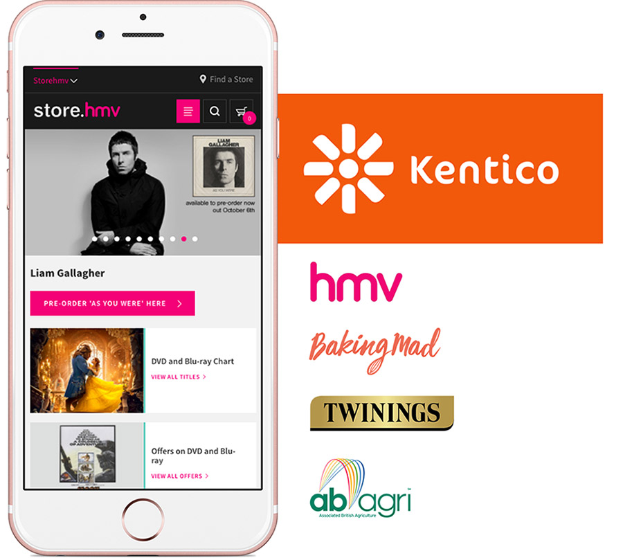 Kentico websites and logo