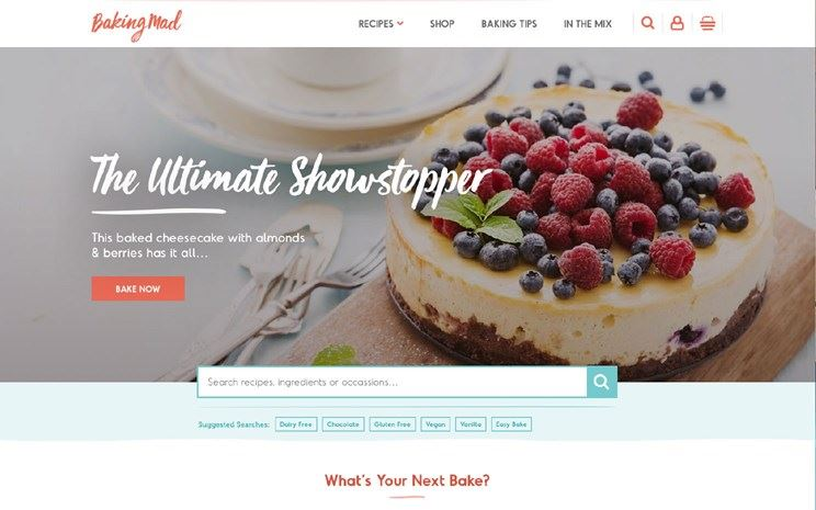 Baking Mad homepage