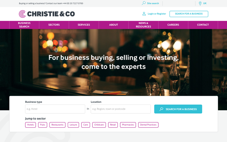 Christie & Co Homepage