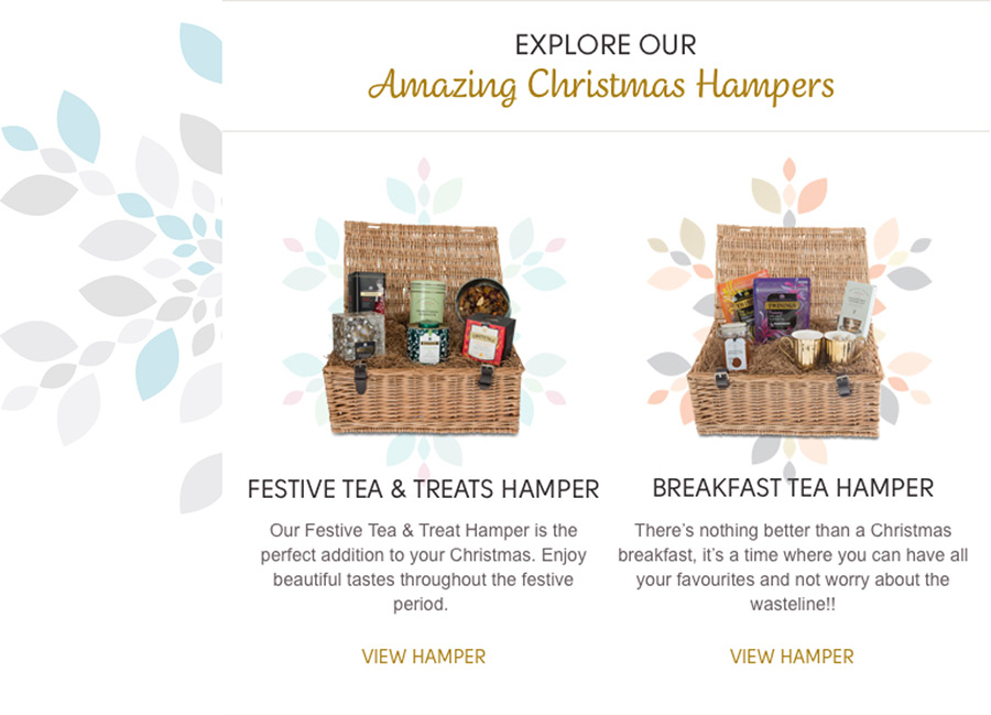 Twinings Christmas email campaign