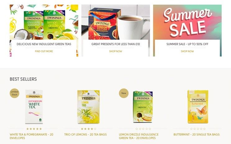 Twinings content page