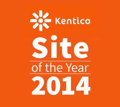Kentico Site of the Year logo