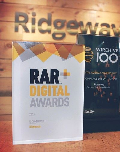 RAR and Wirehive awards trophies