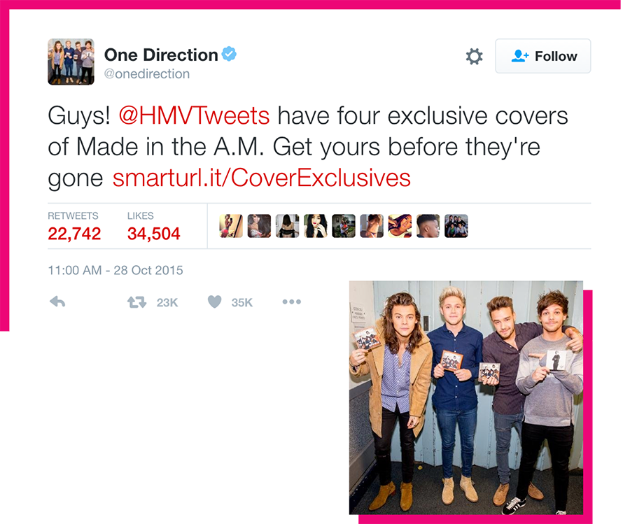 One Direction tweet
